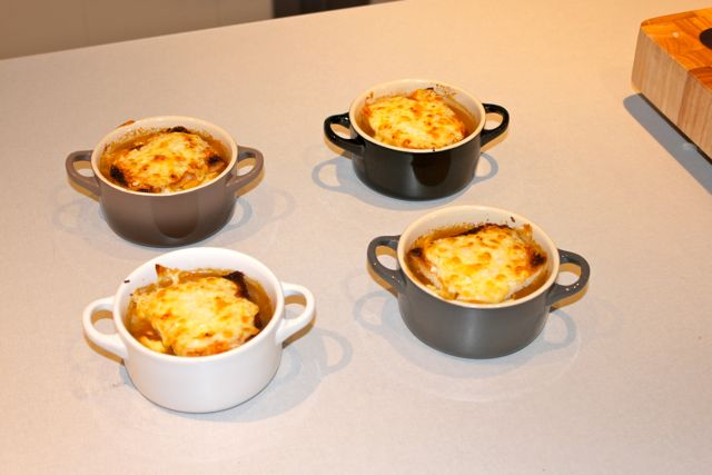 The finished product: French Onion Soup