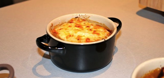 French Onion Soup with lots of cheese!